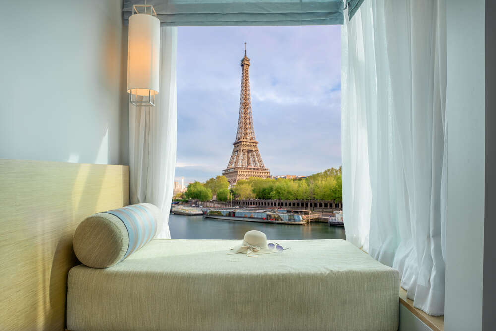 hotel view to eiffel