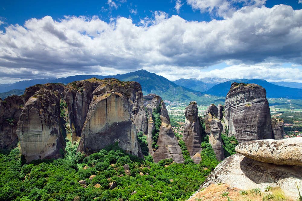 Monastery on top of rock in Meteora